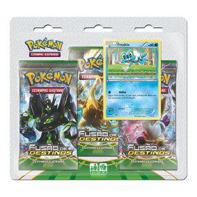 Pokémon TCG: Triple Pack XY10 Fusão de Destinos - Froakie