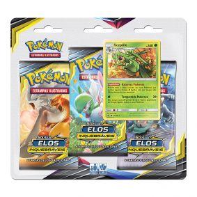 Pokémon TCG: Triple Pack SM10 Elos Inquebráveis - Sceptile