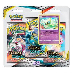 Pokémon TCG: Triple Pack SM12 Eclipse Cósmico - Celebi