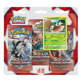 Pokémon TCG: Triple Pack SM4 Invasão Carmim - Decidueye