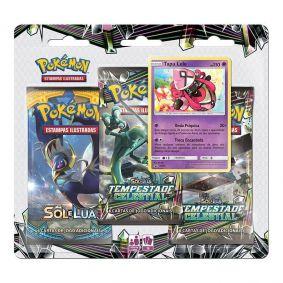 Pokémon TCG: Triple Pack SM7 Tempestade Celestial - Tapu Lele