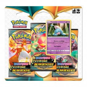Pokémon TCG: Triple Pack SWSH3 Escuridão Incandescente - Hatenna