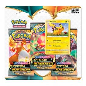 Pokémon TCG: Triple Pack SWSH3 Escuridão Incandescente - Pikachu