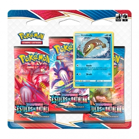 Pokémon TCG: Triple Pack SWSH5 Estilos de Batalha - Arrokuda