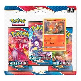 Pokémon TCG: Triple Pack SWSH5 Estilos de Batalha - Charmander