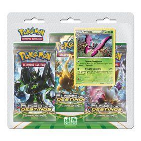 Pokémon TCG: Triple Pack XY10 Fusão de Destinos - Vivillon