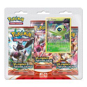 Pokémon TCG: Triple Pack XY8 Turbo Revolução - Celebi