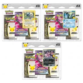Pokémon TCG: Triple Packs Celebrações - Toxtricity Luminoso + Mimikyu Espécie Delta + Hydreigon C Lv.61