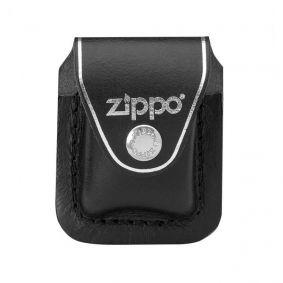 Bainha Porta-isqueiro Zippo com Clip em Couro Preto
