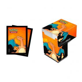 Sleeve Standard + Deck Box Oficial Ultra PRO - Pokémon TCG: Charizard