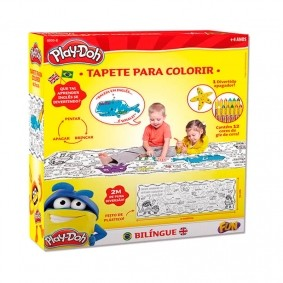Tapete Bilíngue Para Colorir | Play-Doh