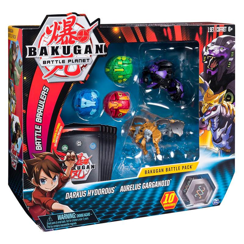 Bakugan Battle Planet - Battle Pack: Darkus Hydorous & Aurelus Garganoid