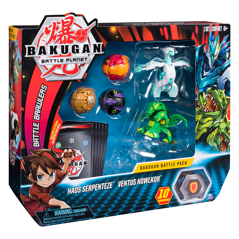 Bakugan Battle Planet - Battle Pack: Haos Serpenteze & Ventus Howlkor