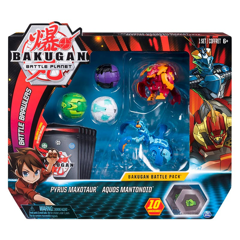 Bakugan Battle Planet - Battle Pack: Pyrus Maxotaur & Aquos Mantonoid