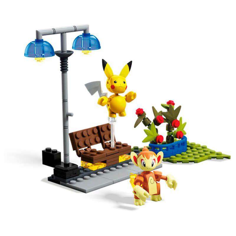 Blocos de Montar Mega Construx Pokémon - Chimchar VS. Pikachu | Mattel