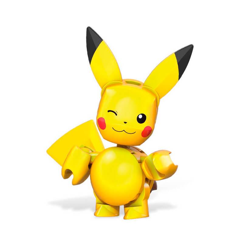 Blocos de Montar Mega Construx Pokémon - Pikachu + Poké Bola   Mattel