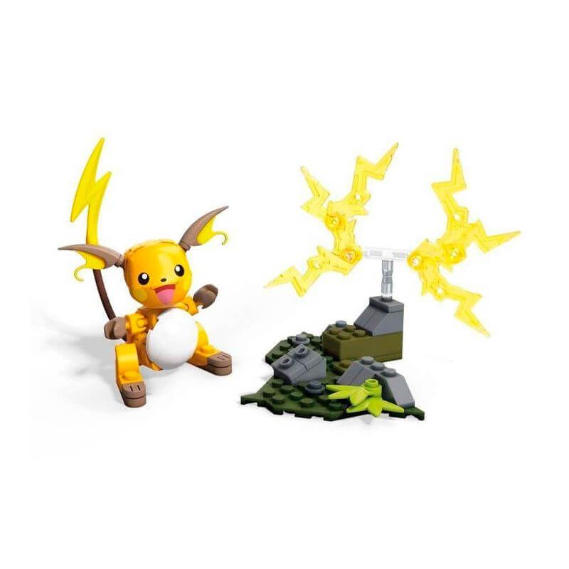 Blocos de Montar Mega Construx Pokémon - Raichu + Slowpoke | Mattel