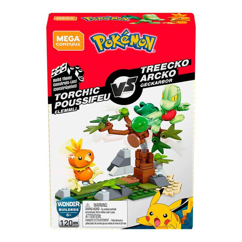Blocos de Montar Mega Construx Pokémon - Torchic VS. Treecko   Mattel