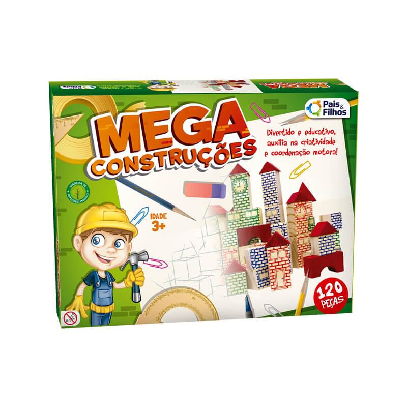 Blocos Mega Construção - 120 Peças   Pais & Filhos