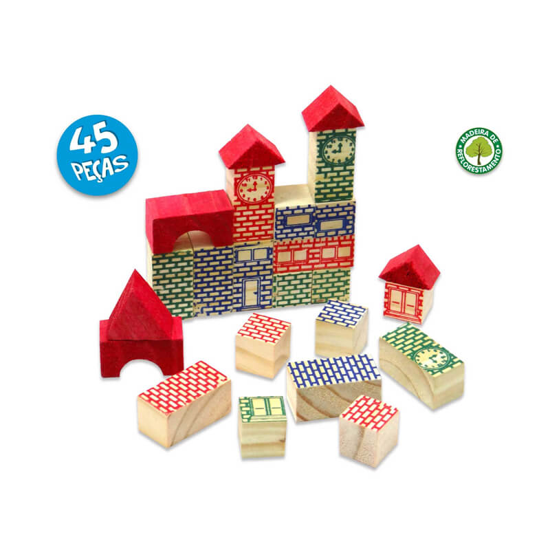 Blocos Mega Construções - 45 Peças | Pais & Filhos