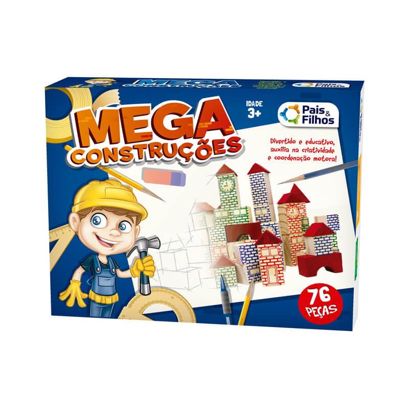 Blocos Mega Construção - 76 Peças | Pais & Filhos