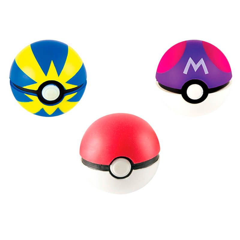 Bola Macia Pokémon Throw N' Catch - Pokébola + Bola Mestra + Bola Rápida | TOMY/Sunny