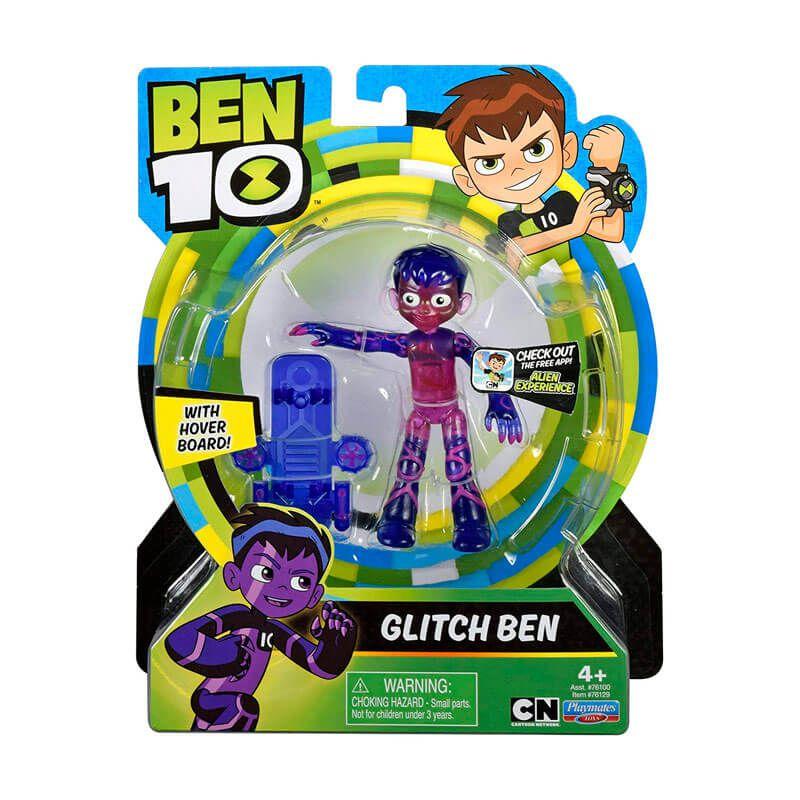 Boneco Ben 10 Figuras de Ação - Ben Glitch | Playmates/Sunny