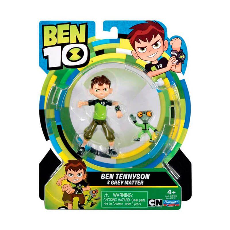 Boneco Ben 10 Figuras de Ação - Ben Tennyson + Massa Cinzenta | Playmates/Sunny