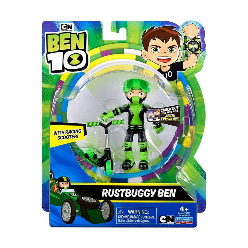 Boneco Ben 10 Figuras de Ação - Ben Tennyson com Patinete Rustbuggy | Playmates/Sunny