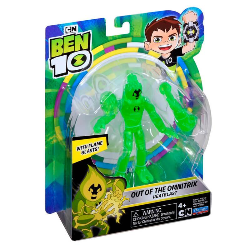 Boneco Ben 10 Figuras de Ação - Chama Fora do Omnitrix | Playmates/Sunny