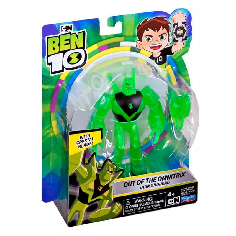 Boneco Ben 10 Figuras de Ação - Diamante Fora do Omnitrix | Playmates/Sunny