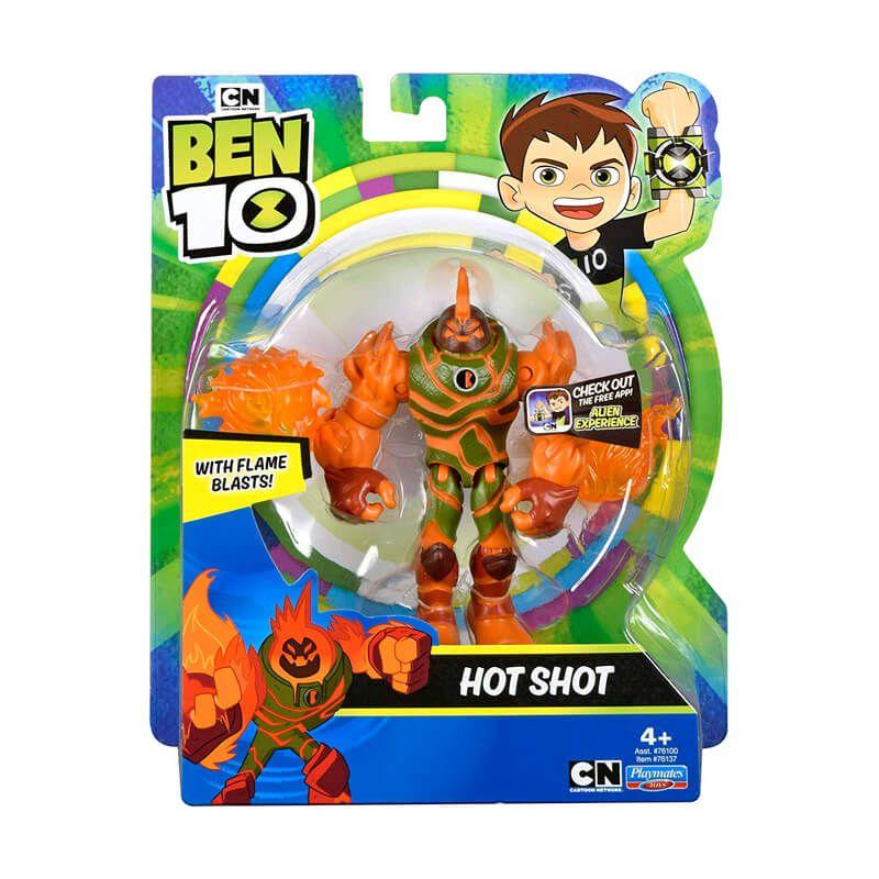 Boneco Ben 10 Figuras de Ação - Hot Shot | Playmates/Sunny