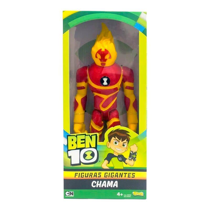Boneco Ben 10 Figuras Gigantes - Ben Tennyson + Chama | Playmates/Sunny