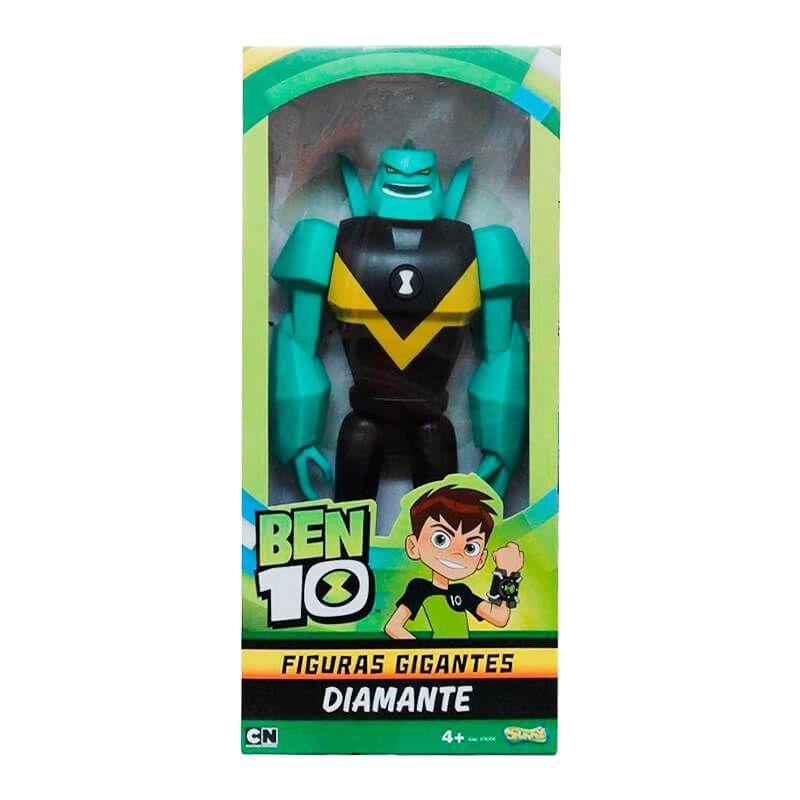 Boneco Ben 10 Figuras Gigantes - Rustbuggy Ben + Diamante | Playmates/Sunny
