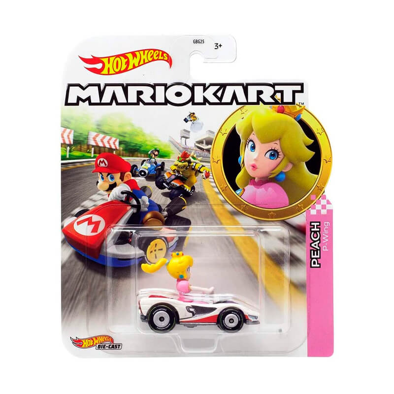 Boneco Hot Wheels Die-Cast Mario Kart: Peach - P-Wing | Mattel
