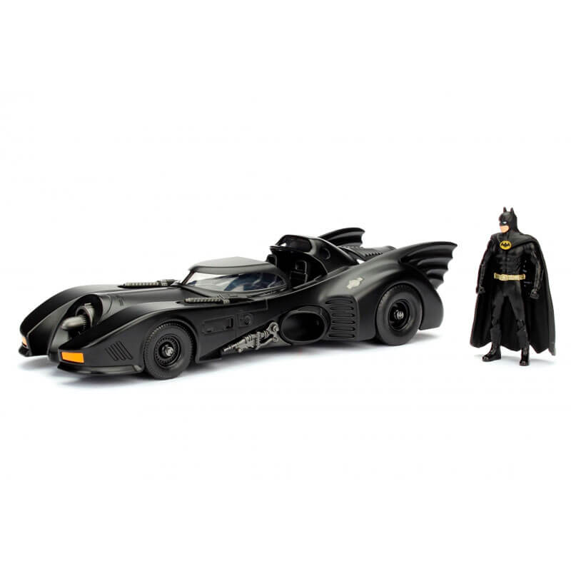 Boneco Metals Die Cast 1:24 - Batmobile (1989) com Figura Batman | Jada/DC