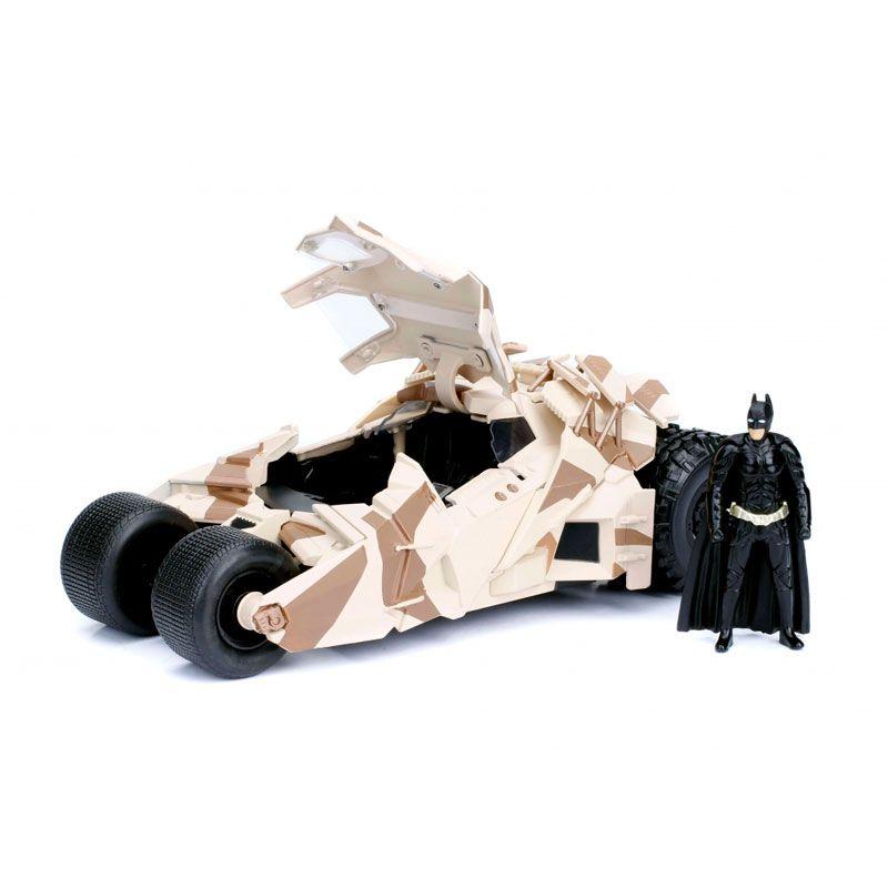 Boneco Metals Die Cast 1:24 - Batmobile Camouflage (The Dark Knight) com Figura Batman | Jada/DC