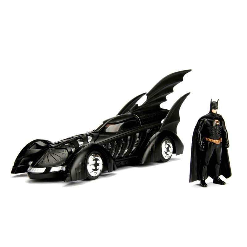 Boneco Metals Die Cast 1:24 - Batmobile (Forever) com Figura Batman | Jada/DC