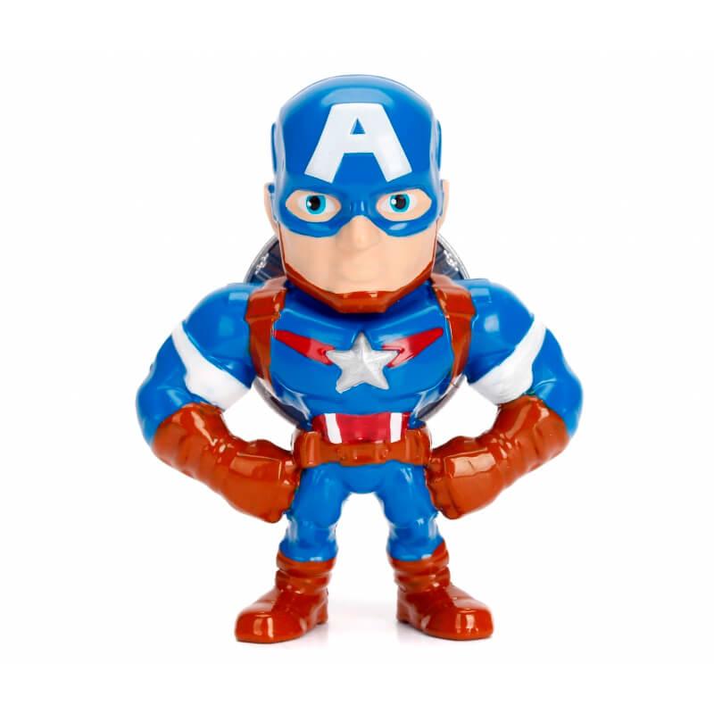 """Boneco Metals Die Cast 2,5"""" - Avengers Captain America #M500   Jada/Marvel"""
