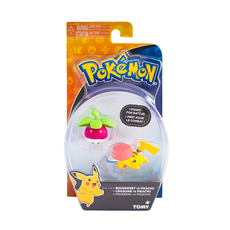 "Boneco Pokémon Action Figure 2"" - Bounsweet + Pikachu| TOMY/Sunny"