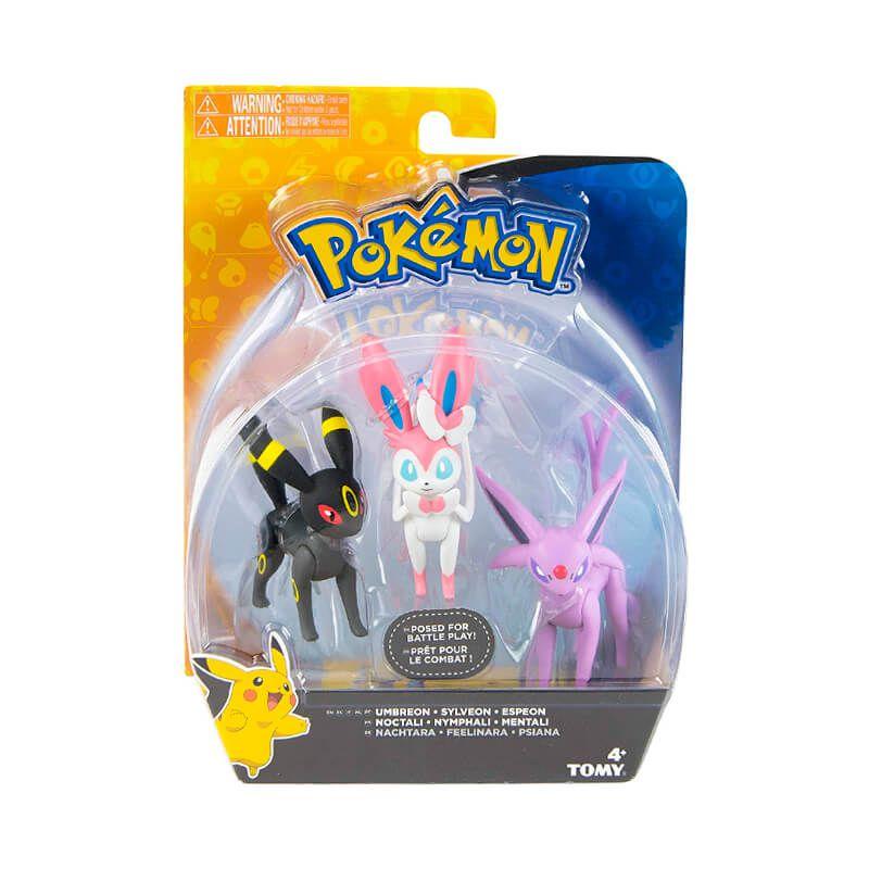 "Boneco Pokémon Action Figure 2"" - Umbreon, Sylveon e Espeon | TOMY/Sunny"