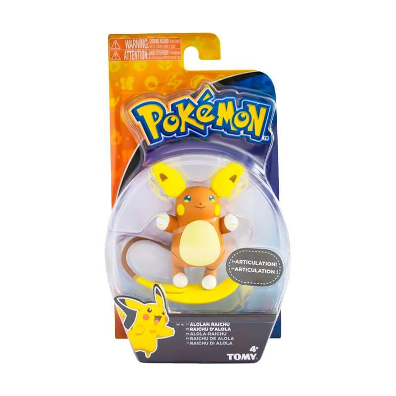 "Boneco Pokémon Action Figure 4,5"" - Raichu de Alola | TOMY/Sunny"