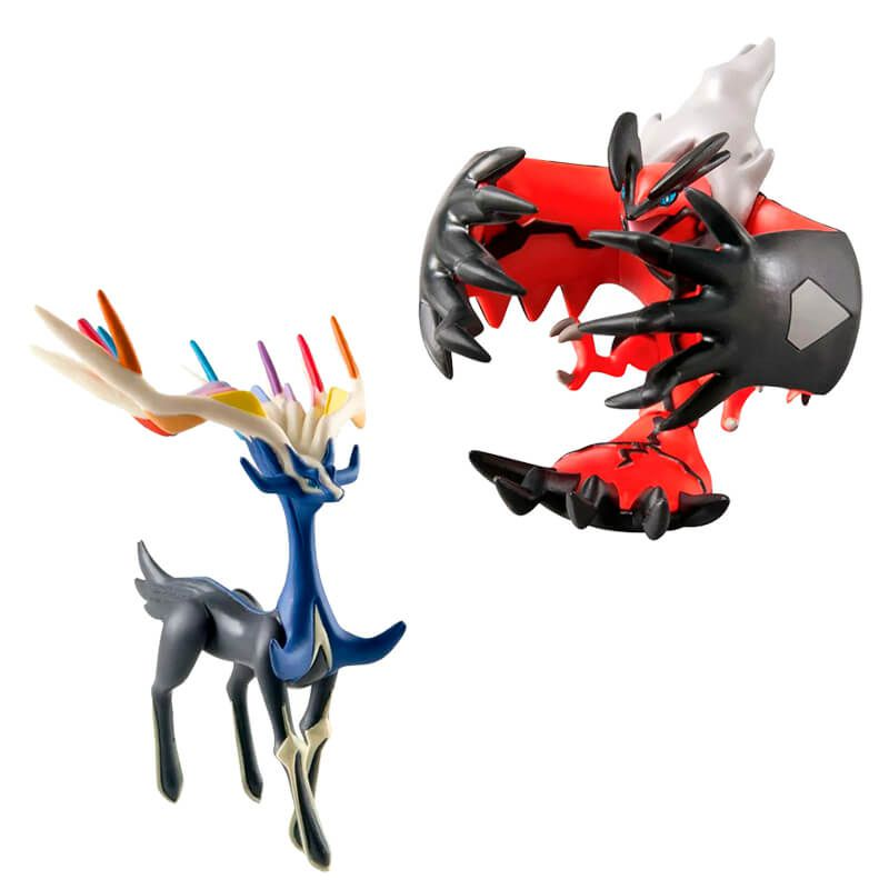 "Boneco Pokémon Action Figure 4"" - Xerneas + Yveltal   TOMY/Sunny"