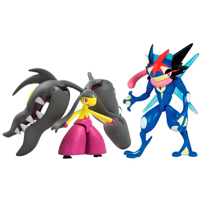 "Boneco Pokémon Action Figure - Ash-Greninja 6"" + Mega Mawile 6"" | TOMY/Sunny"