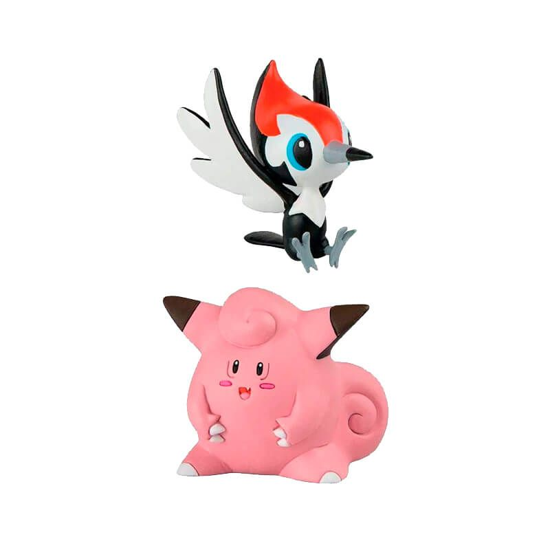"Boneco Pokémon Action Figure - Lycanroc (Midday Form) 4"" + Pikipek + Clefairy 2"" | TOMY/Sunny"