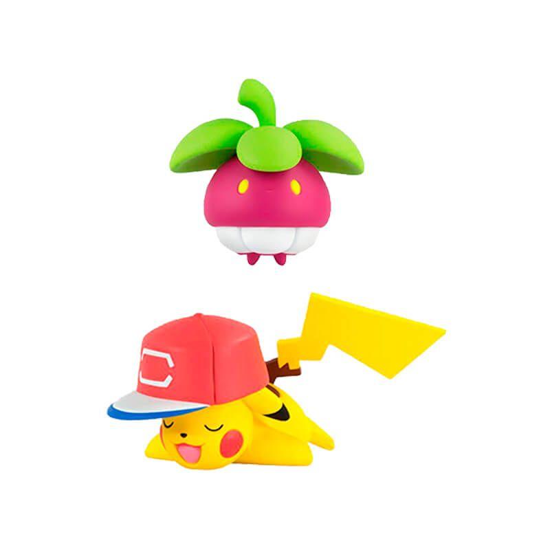 "Boneco Pokémon Action Figure - Mega Mawile 6"" + Bounsweet + Pikachu 2"" + Pikipek + Clefairy 2"" | TOMY/Sunny"