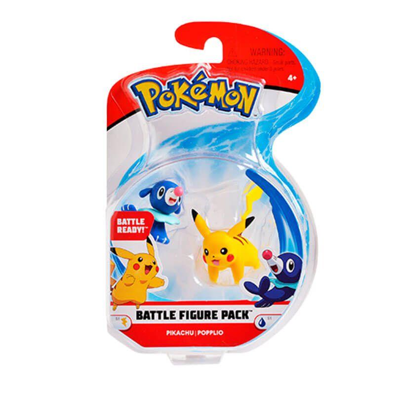 "Boneco Pokémon Battle Figure 2"" - Pikachu e Popplio   WCT/DTC"