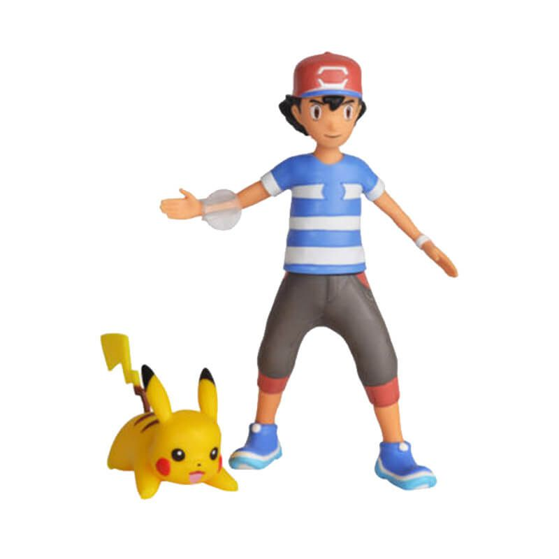 "Boneco Pokémon Battle Figure 4,5"" - Ash e Pikachu | WCT/DTC"