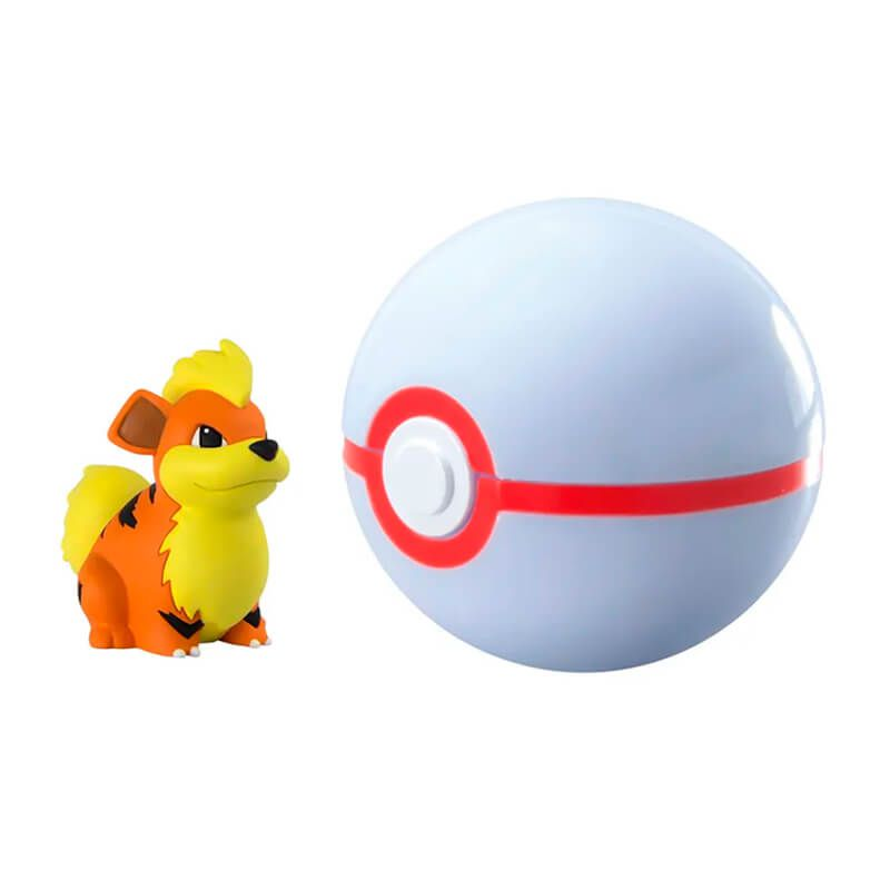Boneco Pokémon Clip N' Carry - Growlithe + Premier Ball | TOMY/Sunny