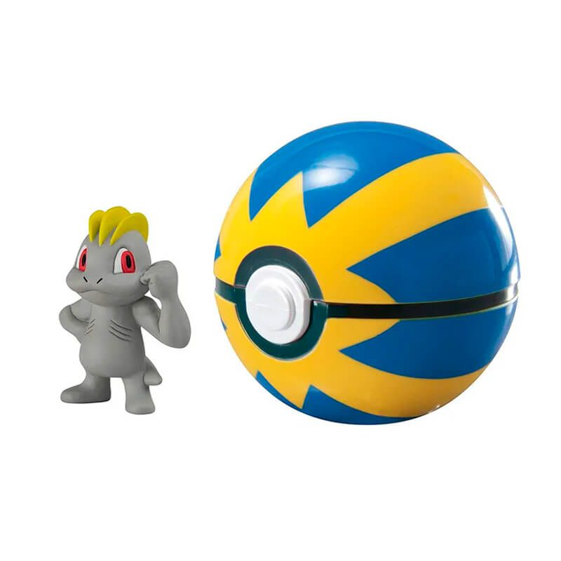Boneco Pokémon Clip N' Carry - Machop + Bola Rápida | TOMY/Sunny